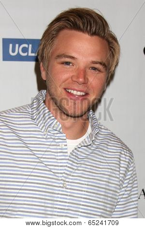 LOS ANGELES - MAY 16:  Brett Davern at the UCLA's Spring Sing 2014 at Pauley Pavilion UCLA on May 16, 2014 in Westwood, CA