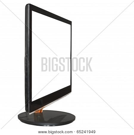 Display With Cut Out Screen Isolated On White