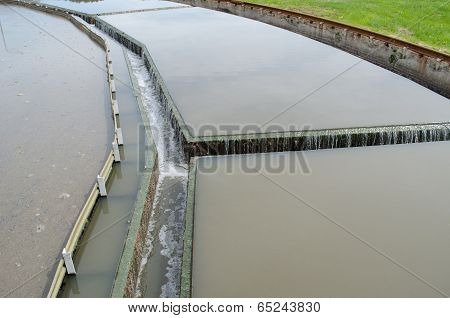 Water Flow Filtration Sedimentation Stage In Plant