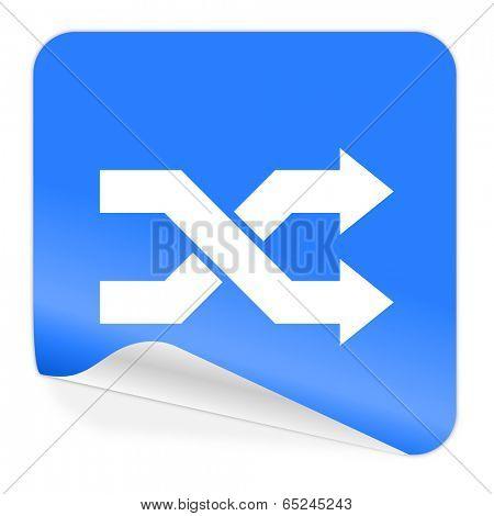 aleatory blue sticker icon
