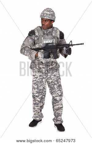 Portrait Of A African Soldier