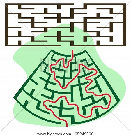 Square Deformed Maze
