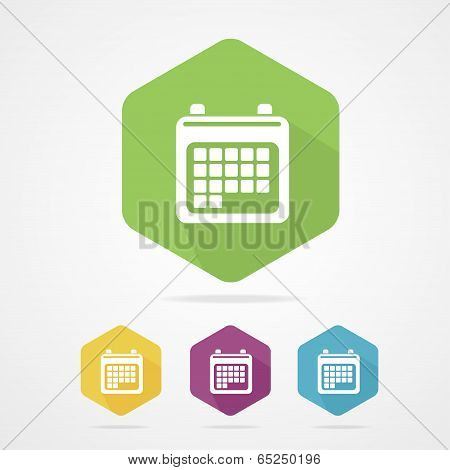 Vector illustration calendar organizer flat icon