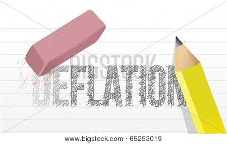 Erase Deflation Concept Illustration