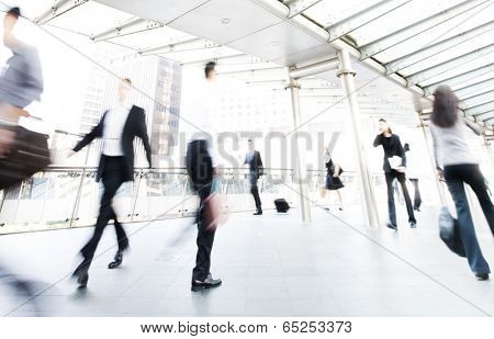 People in Hong Kong. Blurred motion.
