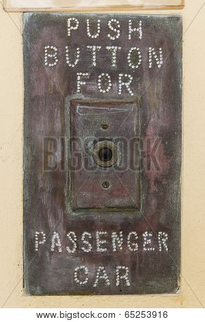 Push Button For Passenger Car