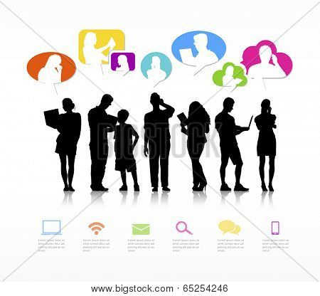 Vector of social media networking.