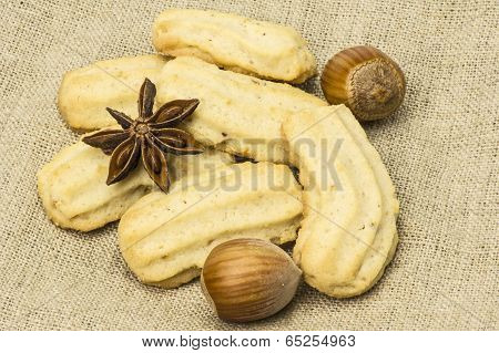 Hazelnut and spritz biscuit