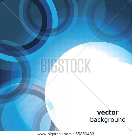 Abstract Blue Background or Cover Design with Rings