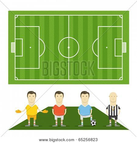 Green football field vector template