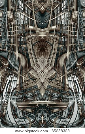 Abstract Futuristic Building