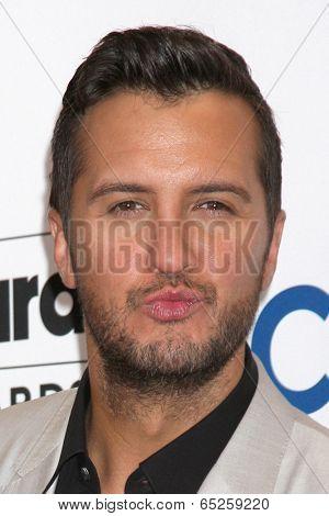 LAS VEGAS - MAY 18:  Luke Bryan at the 2014 Billboard Awards at MGM Grand Garden Arena on May 18, 2014 in Las Vegas, NV
