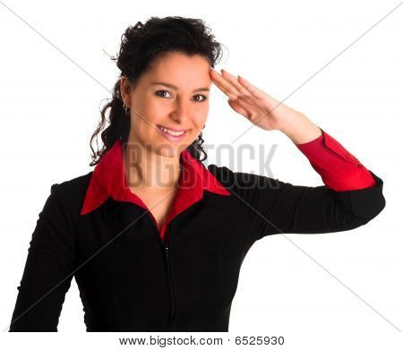 Air Hostess Saluting