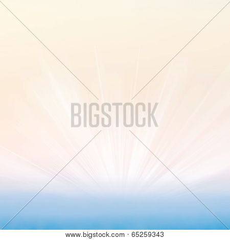 Abstract Gradient Textured Background With Sun Light Burst. Typographical Background With Blurred Bo
