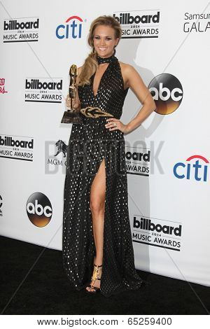 LAS VEGAS - MAY 18:  Carrie Underwood at the 2014 Billboard Awards at MGM Grand Garden Arena on May 18, 2014 in Las Vegas, NV
