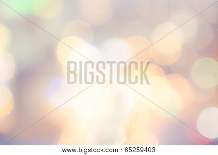 Abstract  Background With Natural Bokeh Texture And Defocused Sparkling Sun Lights. Vintage Pastel C