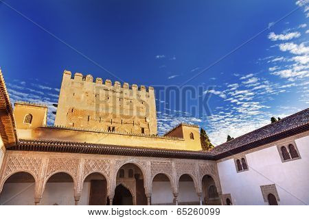 Alhambra Myrtle Courtyard Moorish Wall Designs Granada Andalusia Spain
