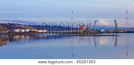 Tacoma Port Evening View, Wa