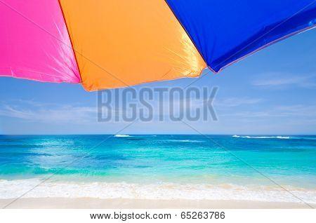 Beach Umbrella By The Ocean