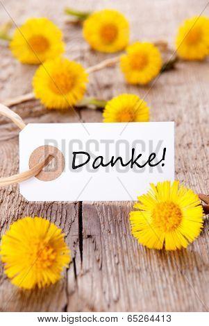 Yellow Flowers With Danke