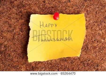 Happy Thanksgiving Note