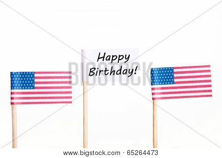 Flag With Happy Birthday
