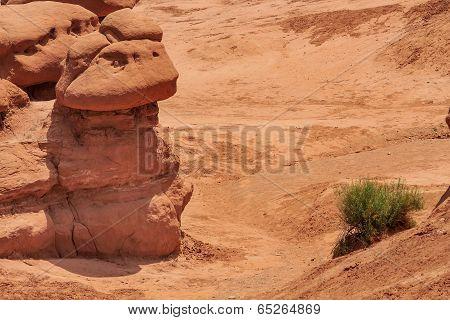 Mushroon Shaped Hoodoos Goblin Valley State Park Rock Canyon Uta