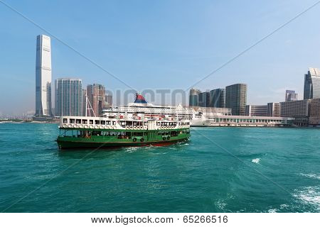 View of Kowloon Hong Kong on a clear day.