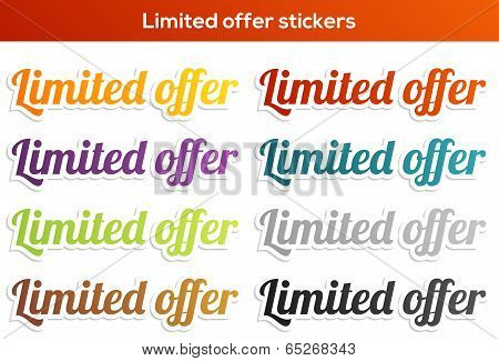 Limited Offer Sticker Set