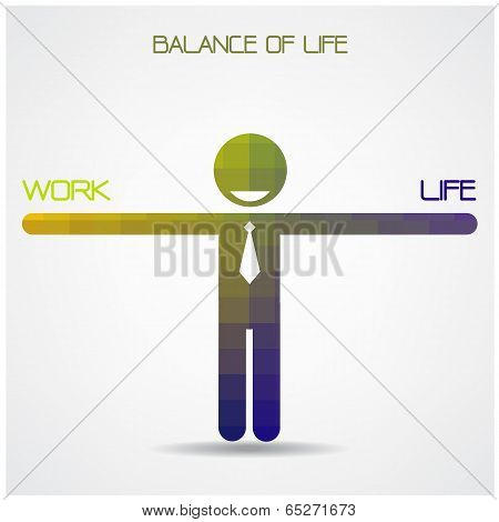 Balance Scale Between Work And Life Idea,work And Life Balance Concept,businessman Sign,business Ide