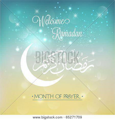 Welcome Ramadan Background.Vector