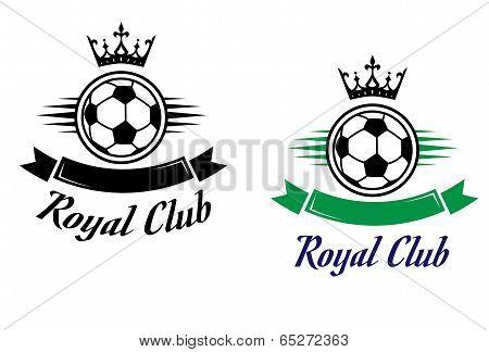 Royal football or soccer club symbol