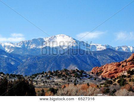 Pikes Peak no jardim dos deuses