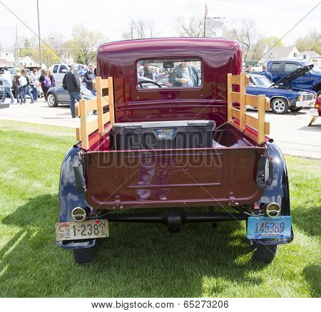 1930 Ford Pickup Truck Rear View