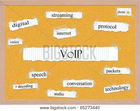 Voip Corkboard Word Concept