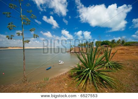 Coast Of Tibau Do Sul Near Pipa Brazil