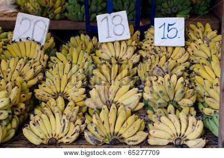 Musa Sapientum Banana In Market, Thailand
