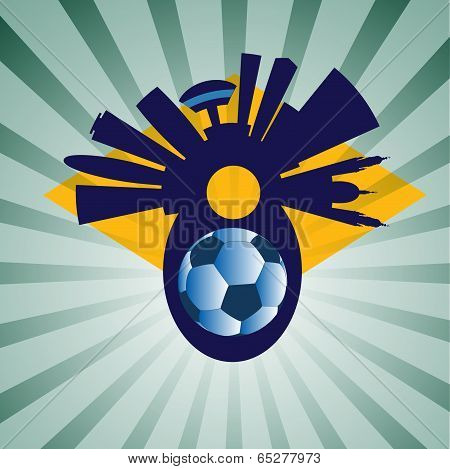Vector Rio Skyline With Ball