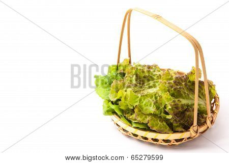 Lettuce That Was Served In A Basket