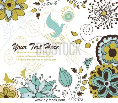 A Floral And Nature Background For Your Text