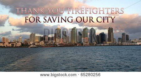 Thank You San Diego Firefighters