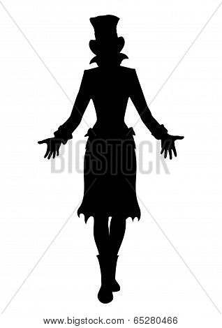 Hat Woman Silhouette