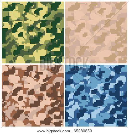 Seamless digital terrain camouflage pattern. Vector.
