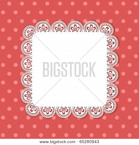 Square Lace Border Background