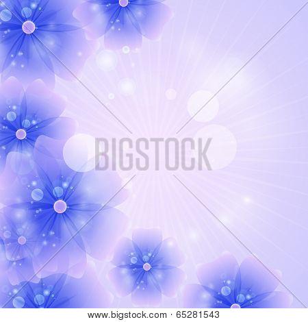 Floral Background Purple