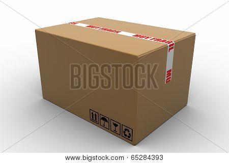 fragile cardboard box isolated