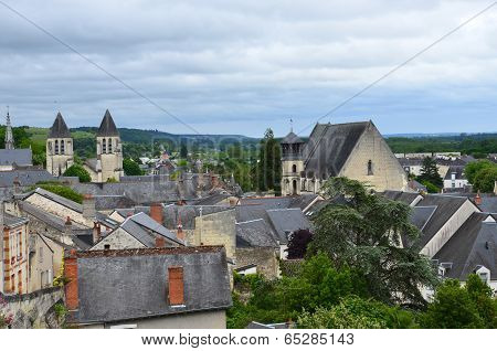 Roofs of Chinon town Vienne valley France