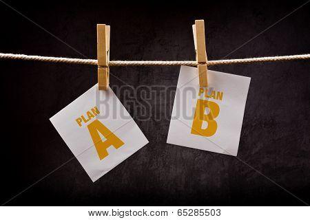 Plan A Or Plan B, Conceptual Image