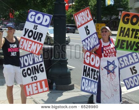 Westboro Baptist Racist Hate Group Protesters