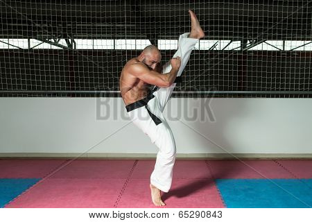 Mature Man Makes A Kick In Kimono
